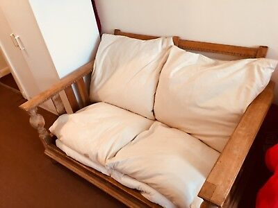 Antique Wooden Oak Futon Sofa to Collect only