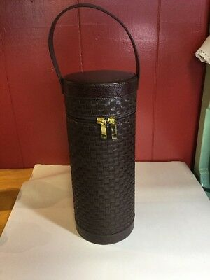 Bey-Berk Leather Wine Bottle Carrier Travel Tote