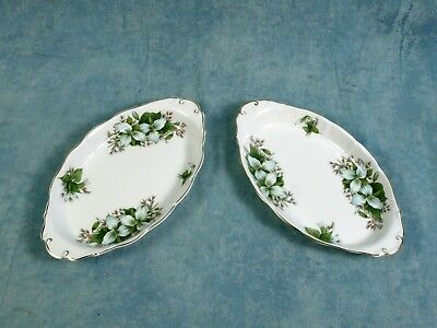 VINTAGE Royal Albert Trillium REGAL SNACK TRAY DISH Classy gold white green