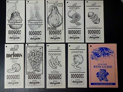Vintage Lot of Chatham Grocery Store Advertising - Menu Assistance Planning