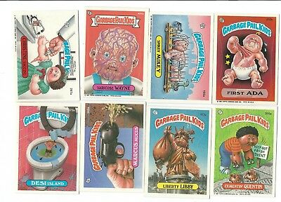 VINTAGE TOPPS ASSORTED GARBAGE PAIL KIDS 8 CARD LOT A&B lot #1