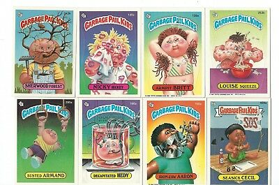 VINTAGE TOPPS ASSORTED GARBAGE PAIL KIDS 8 CARD LOT A&B lot #2