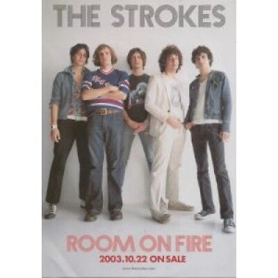 STROKES Room On Fire FLYER Japanese Rca 2003 Approx 22Cm X 15Cm Full Colour