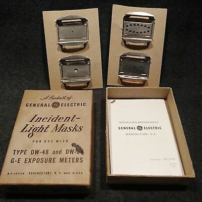 Vintage General Electric Incident Light Masks for exposure meters PHOTOGRAPHY