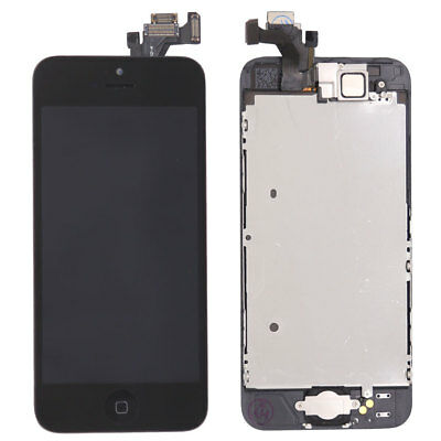 For iPhone 5 5G LCD Display Touch Screen Replacement Digitizer Home Button Black