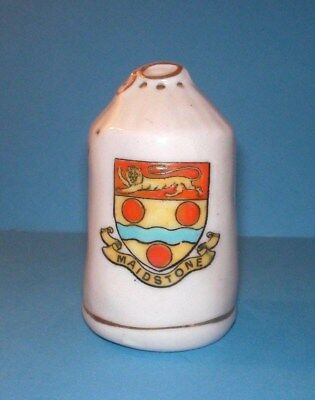 Carlton Crested China WW1 Kitbag Closed Neck Maidstone Crest
