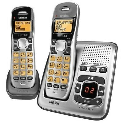 Uniden Dect Digital 1735+1 2 Handset Cordless Telephone  And Answer Machine