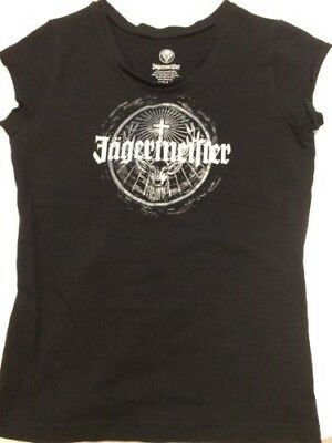 Jagermeister Black Ladies T-shirt, Size Medium, fitted, NEW