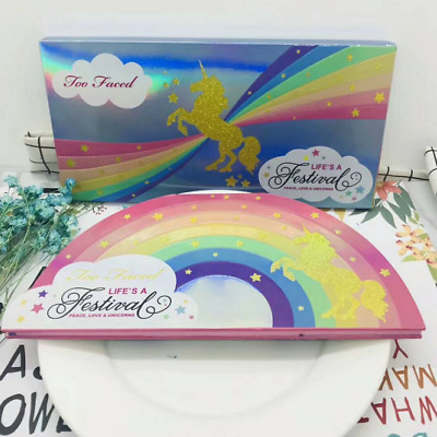 TOO FACED Eye Shadow & Highlighter Makeup Palette Life's A Festival UNICORN