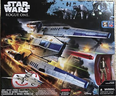 STAR WARS ROGUE ONE REBEL U-WING FIGHTER NERF CAPT. CASSIAN ANDOR- Brand new