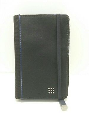 Genuine Moleskine Bifold Credit Card Passport Organizer poly blend pre owned