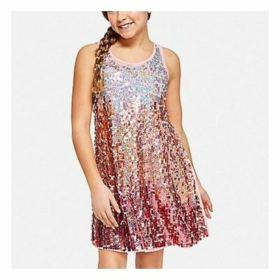 NWT Justice girls ombre sequin tie back dress size 8, 10 or 12 SOLD OuT and  HTF