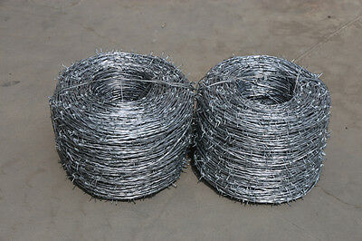 Galvanized Barbed Wire/Double Twist/ Rural farm - 1.6mm*450m