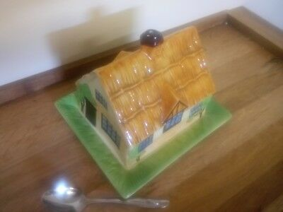 cottage house shaped butter dish