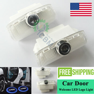2x Cree LED Laser Door Courtesy Welcome Shadow Projector Light Fit For Infiniti