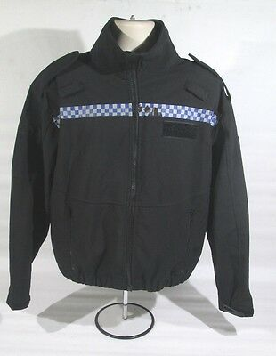 Ex Police Windproof Breathable Soft Shell Fleece With Chequered Strip