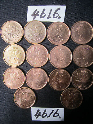 14 x  coins from Canada    20    gms      Mar4616