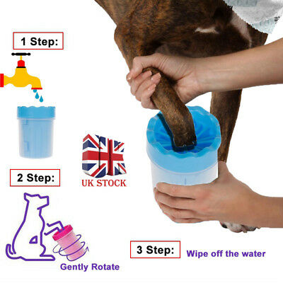 S-L Portable Pet Paw Plunger Mud Cleaner Washer Mudbuster Dog Cat Pet Paw Cup UK