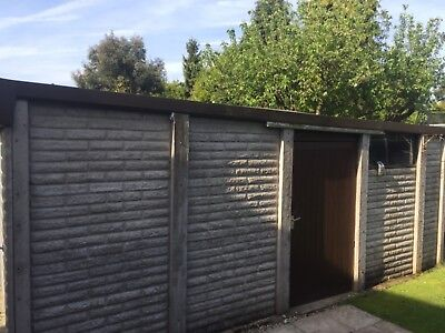 concrete sectional garage single used