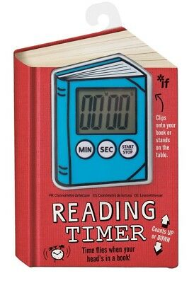 KIDS READING TIMER (BLUE) Easy Clear Digital Display Clip On Book Stand Up NEW