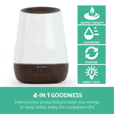 Light Aroma 500ml Purifier Diffuser Essential Oil Air Humidifier Aromatherapy