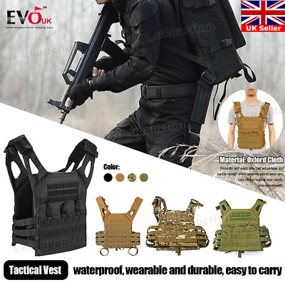 Lightweight Airsoft Military Paintball Hunting CS Tactical Molle Combat Rig Vest