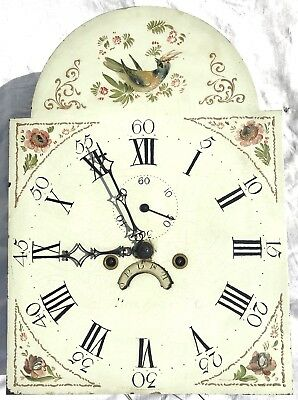 Antique Long Case Grandfather Clock Dial And Movement Arched Peter Evers Chester