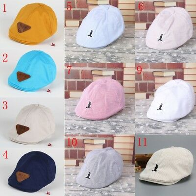 da0262d5d98 Kids Baby Boy Toddler Sun Hat Cotton Beret Summer Bonnet Baseball Cap  Fashion