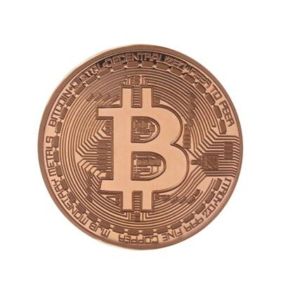 New Plated Rose Gold Bitcoin Coin Collectible Coin Art Collection Gift Physical