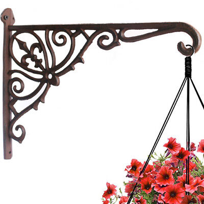 Cast Iron Plant Hanger Hook Bracket Home Garden Flower Pot Basket Hanger 12""