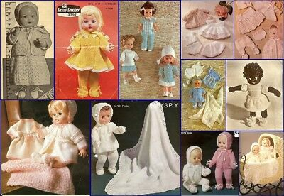 350+ Individual Doll Garments to Knit & Crochet for Dolls Includes Barbie Ken