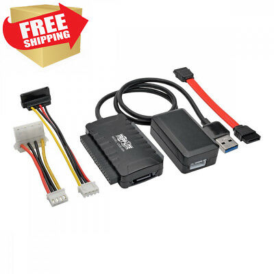 Tripp Lite USB 3.0 SuperSpeed to SATA / IDE Adapter w/ Built-In Cable 2.5in...