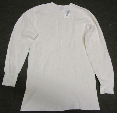 New Genuine Us Army Cold Weather Cotton Waffle Thermal Shirt/undershirt. Large.