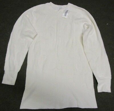 New Genuine Us Army Cold Weather Cotton Waffle Thermal Shirt/undershirt. Small.