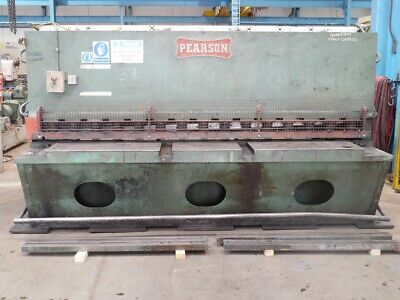 "PEARSON 10' X 1/2"" / 3048mm X 13mm HYDRAULIC GUILLOTINE"