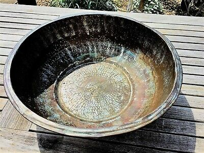 Large Copper Bowl Hand Hammered