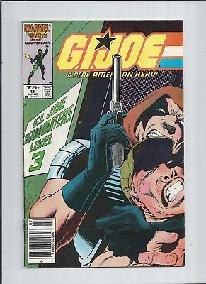 G.I. Joe #48 VF/NM (9.0) 1986 NEWSSTAND - 1st Appearance of SGT. SLAUGHTER!