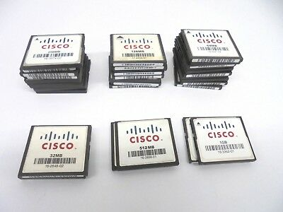 Job lot 33 x Cisco Compact Flash CF Memory Card 1GB 512MB 256MB 128MB 64MB 32MB