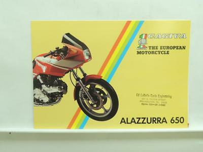 Cagiva The European Motorcycle Alazzurra 650 Brochure Specifications B1028