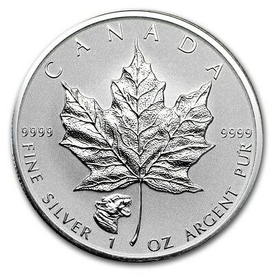 CANADA 5 Dollars Argent 1 Once Maple Leaf 2017 Marque Cougar