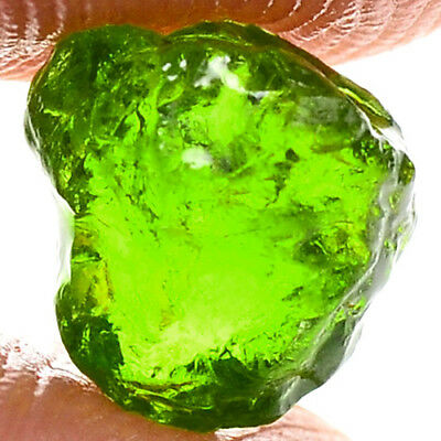 RARE COLOR 2.20ct NATURAL100% UNHEATED GREEN MALI GARNET ROUGH SPECIMEN NR!