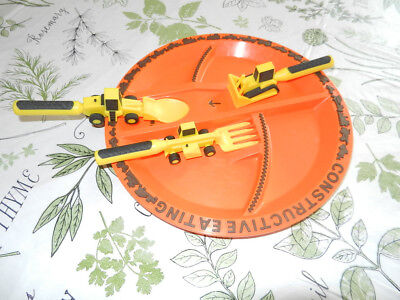 Constructive Eating Construction Plate with Construction Utensil Set /Preowned  sc 1 st  PicClick & CONSTRUCTIVE EATING - Construction Utensil Set with Construction ...