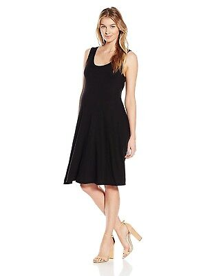 LA Made Womens Maternity Front Tied Drape Dress Black XL Made in the USA