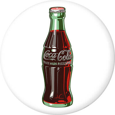 Coca-Cola Bottle Disc White Pop Art 1950s Removable Wall Decal Button Style