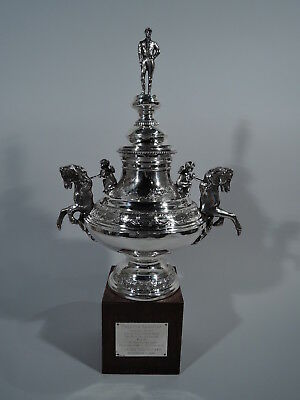 Horse Racing Trophy - Old Fashioned Winner's Cup - American Sterling Silver