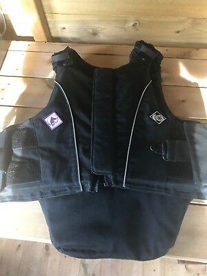 Charles Owen JL9 adult Black Horse Riding Body Protector Size Small