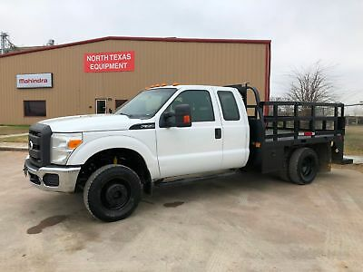Ford F350 4X4 Supercab Flatbed Stakebed Super Duty One Ton Dually Nice 2011 2012