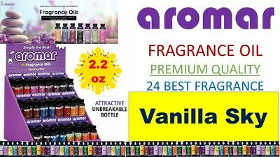 Aromar Aromatherapy Essential Fragrance 100% Concentrated Oil 2.2oz VANILLA SKY