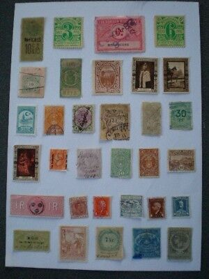 Colonial and world early fiscal revenue / cinderella spacefiller stamps B