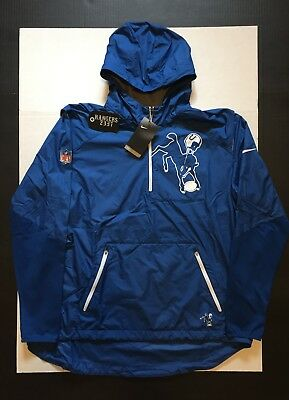 purchase cheap fb960 3a5b3 NIKE INDIANAPOLIS COLTS NFL Lightweight Fly Rush Jacket Mens Size XL